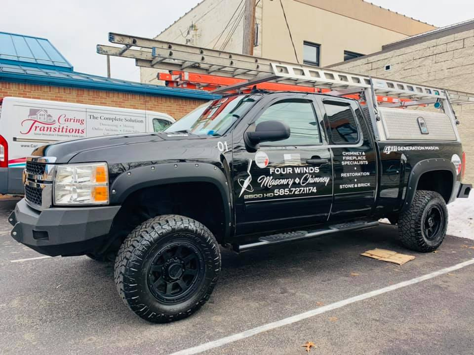 Four Winds Masonry and Chimney truck